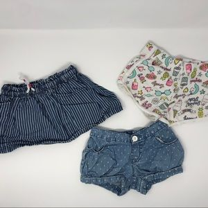 🛍BUNDLE🛍 two shorts and two skirts size 2t